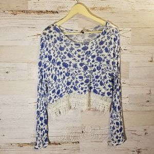 Divided by H&M floral crop top